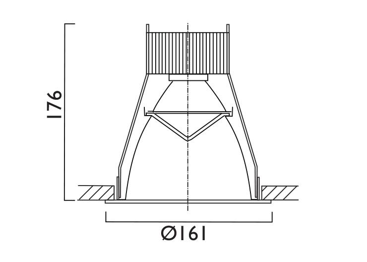 VP X161 Line Drawing